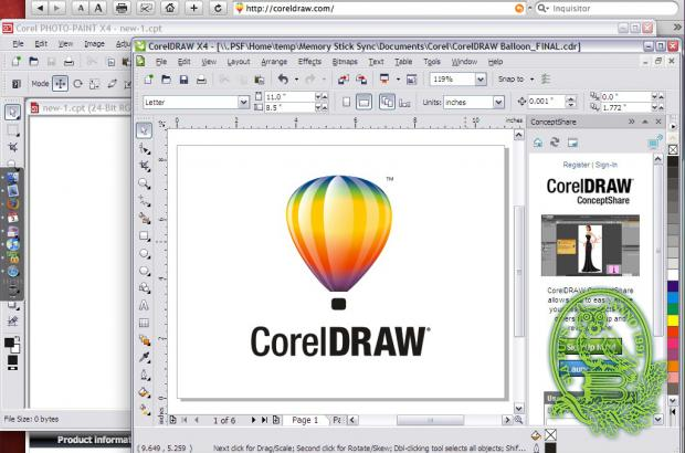 Grafiskā Corel Draw Graphics datorprogramma